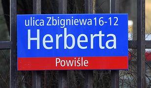 Zbigniew Herbert bez ulicy w Warszawie