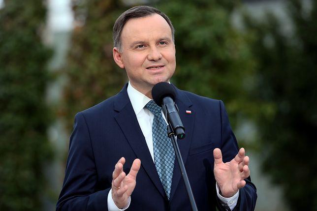 Prezydent Andrzej Duda po spotkaniu z prezydentem