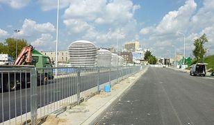 Trasa Świętokrzyska przy Stadionie Narodowym już na ukończeniu (ZDJĘCIA)