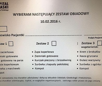 """Szpital Praski wprowadził wegetariańskie menu. """"Pacjent sam decyduje, co chce na obiad"""""""