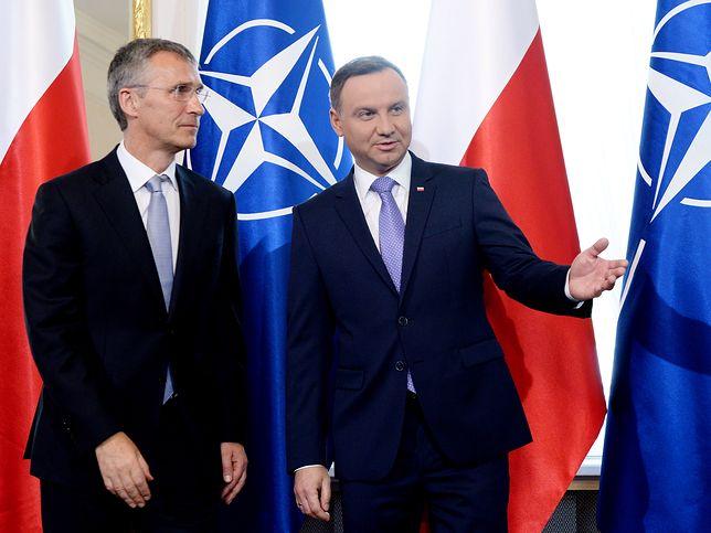 Sekretarz generalny NATO Jens Stoltenberg i prezydent Andrzej Duda.