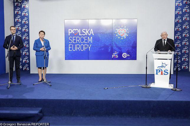 Wybory do Europarlamentu. PiS zwołał konferencję, Kaczyński zabrał głos