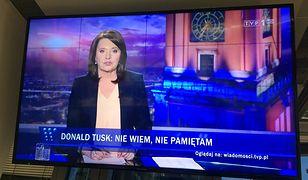 """W """"Wiadomościach"""" nie zabrakło tematu przesłuchania Donalda Tuska"""