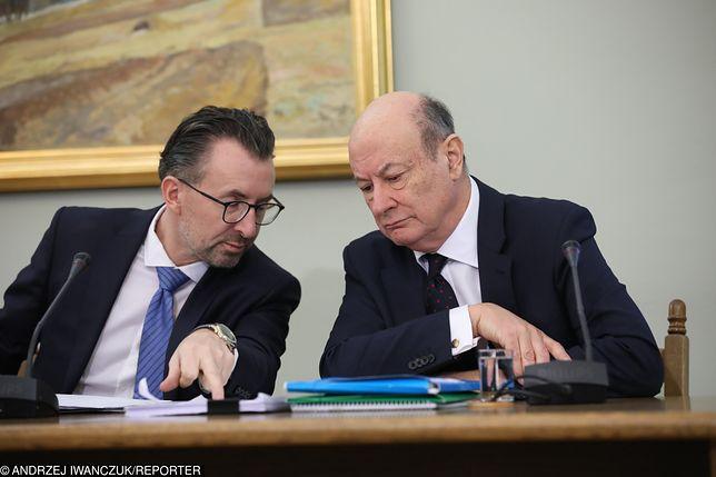Jacek Rostowski razem z pełnomocnikiem Markiem Chmajem