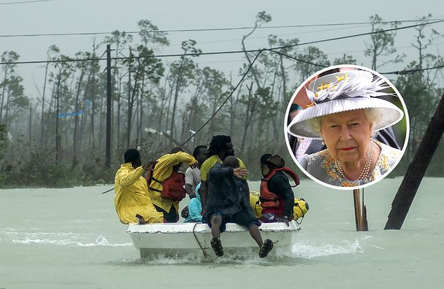 Królowa Elżbieta II wysłała odezwę do mieszkańców Bahamów, które nawiedził huragan Dorian.