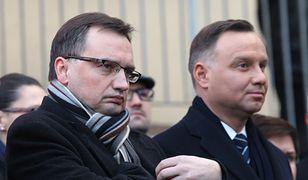 Od lewej: Zbigniew Ziobro (minister sprawiedliwości i prokurator generalny) oraz Andrzej Duda (prezydent) (zdj.arch.)