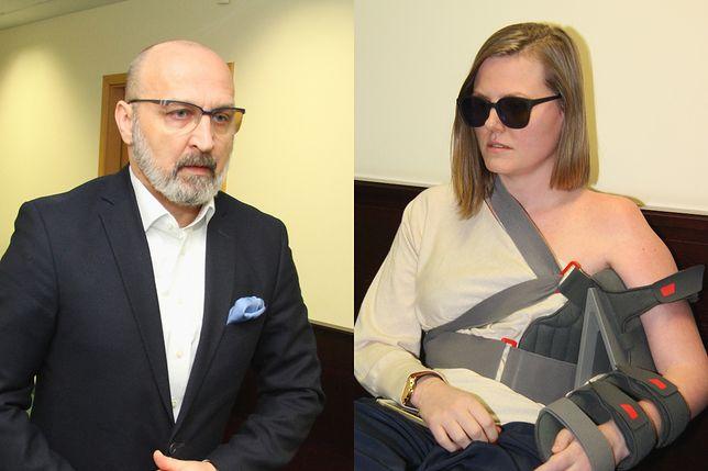 Izabela Olchowicz-Marcinkiewicz i Kazimierz Marcinkiewicz w sądzie w 2016 roku