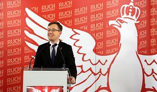 Konferencja Ruchu Narodowego w Sejmie. Robert Winnicki odniósł się do sprawy Dumy i Nowoczesności