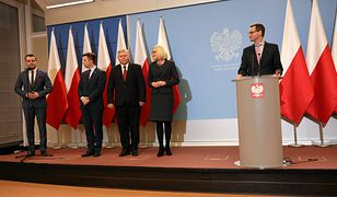 Nowi współpracownicy premiera Morawieckiego: Michał  Dworczyk, Marek Suski i Joanna Kopcińska