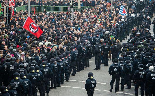 Manifestacja w Hanowerze