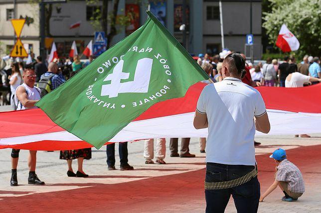 Członkowie ONR na obchodach Święta Konstytucji 3 Maja w Zakopanem