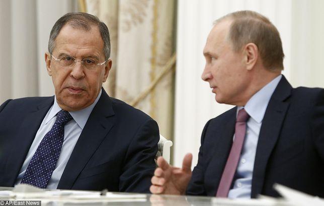Szef rosyjskie dyplomacji Siergiej Ławrow i prezydent Władimir Putin