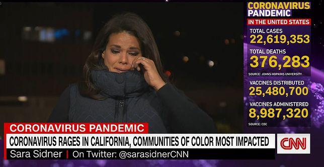 Dziennikarka CNN Sara Sidner nie mogła powtrzymać swoich emocji.