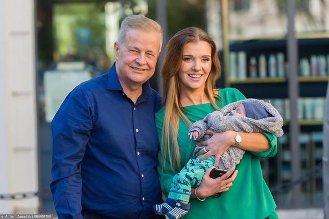Izabela Podolec-Tajner i Apoloniusz Tajner z synem Leopoldem