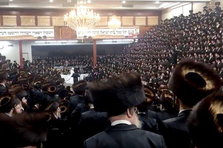 Potajemne zgromadzenie Żydów. Wyciekło wstrząsające nagranie