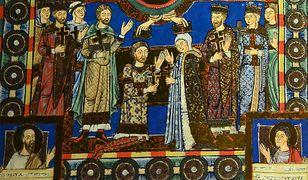 Henryk Lew i Matylda z Anglii. Saski książę podbił Połabie i Pomorze należące do plemion słowiańskich