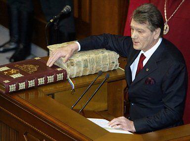 Prezydent Wiktor Juszczenko: Ukraina jest wolna i niezależna!