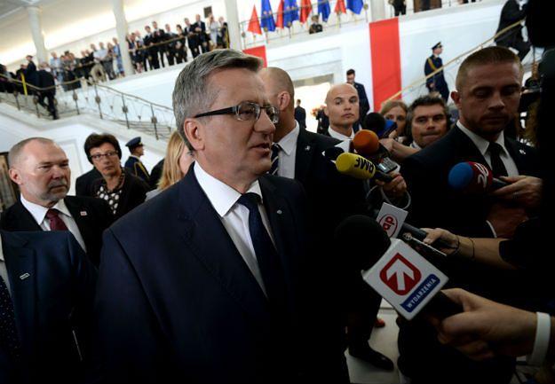 Bronisław Komorowski: dziś jest dzień prezydenta Andrzeja Dudy, chcę to uszanować