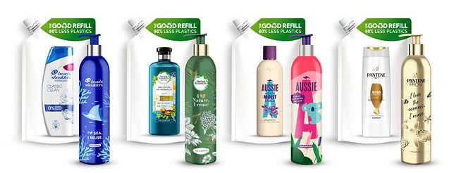 Innowacyjne opakowania szamponów Head&Shoulders, Pantene, Herbal Essences i Aussie – bardziej zrównoważone wybory w Twojej łazience