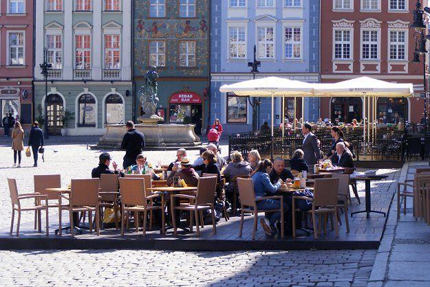 Ogródki na poznańskim Starym Rynku już po nowemu - restauratorzy narzekają