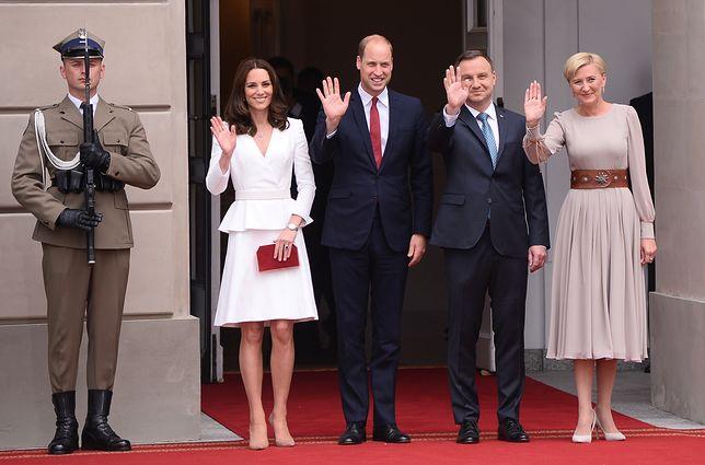 Para prezydencka powitała księżną Kate i księcia Williamia