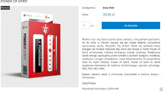 """""""Power of Spirit"""" - opis tego produktu ze sklepu ŚDM wprawia w osłupienie"""