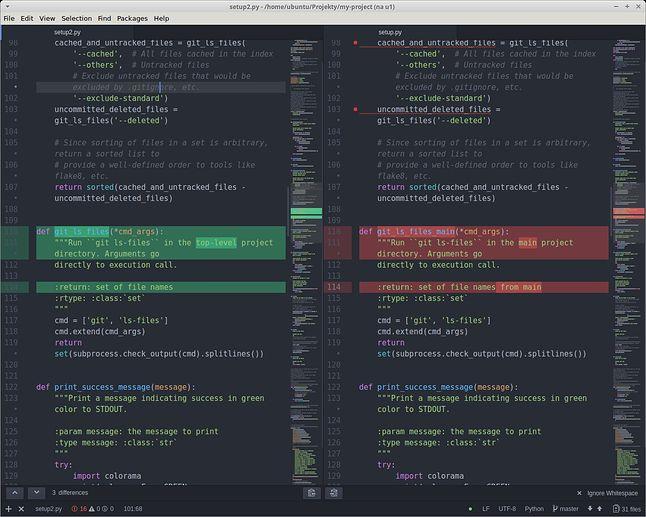 Split-diff i Minimap-split-diff to para niezastąpiona przy porównywaniu plików