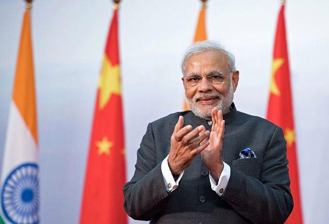 Narendra Modi w czasie wizyty w Chinach