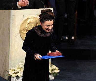 Olga Tokarczuk odbierająca Nobla