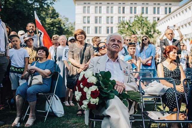 Tłumy przyszły, by spełnić marzenie Powstańca Warszawskiego Stanisława Majewskiego