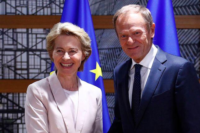Donald Tusk pogratulował wyboru Ursuli von der Leyen