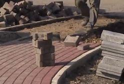Wpadka na budowie w Dąbrowie Górniczej (WIDEO)