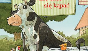 Krowa Matylda nie chce się kąpać