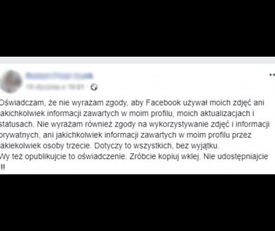 Łańcuszki na Facebooku. Jest reakcja UODO