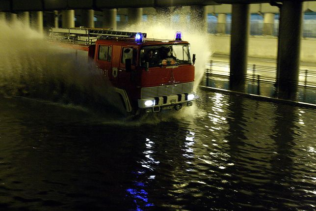 Zalany tunel w Białymstoku