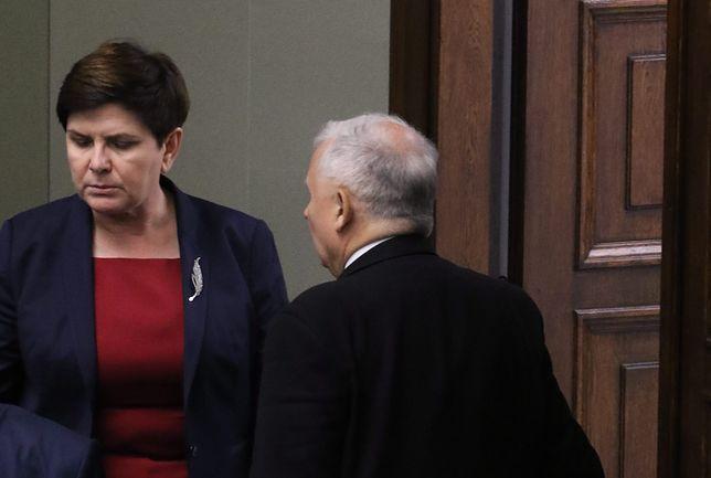 Beata Szydło i Jarosław Kaczyński w Sejmie