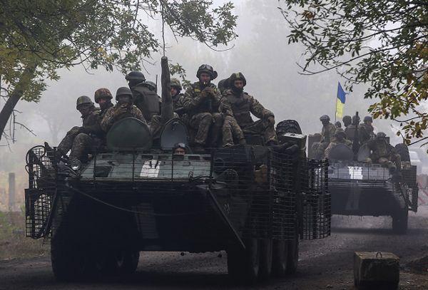 Ukraińscy żołnierze na wschodzie kraju