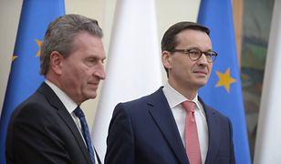 Słowa Oettingera zapowiadają gorące tygodnie dla premiera Mateusza Morawieckiego