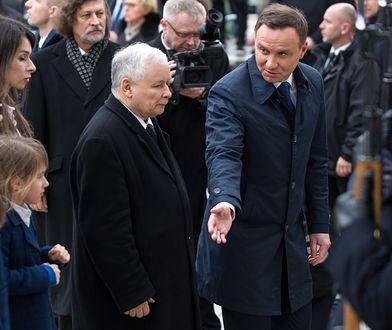 Jarosław Kaczyński i Andrzej Duda, Warszawa, kwiecień 2016