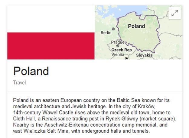 Błąd Google Maps - część woj. warmińsko-mazurskiego poza granicami kraju