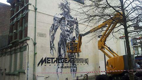 Gdy billboard to za mało. Gigantyczny Raiden na muralu w Liverpoolu