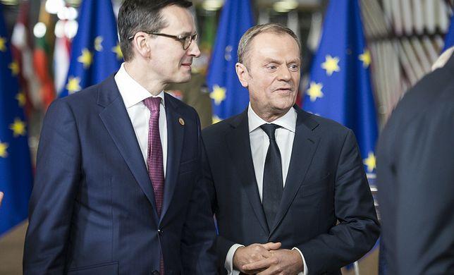 Na zdjęciu: Mateusz Morawiecki i Donald Tusk (zdjęcie archiwalne)