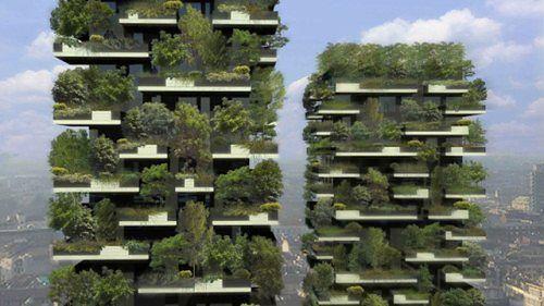 Pionowy las w środku europejskiego miasta