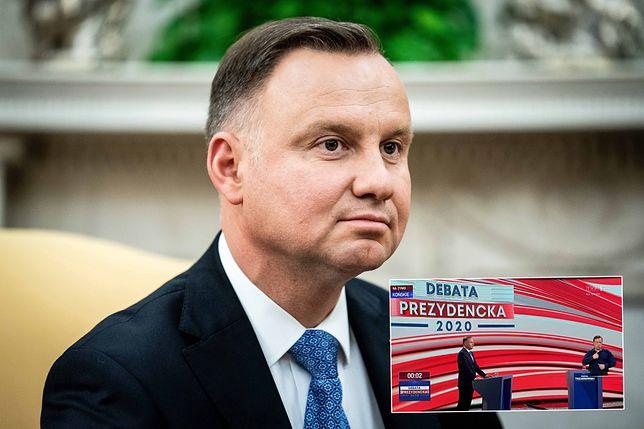 Andrzej Duda wziął udział w debacie prezydenckiej