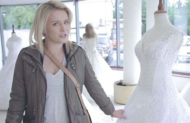 """""""Pierwsza miłość"""": Aneta Zając na planie hitu Polsatu w sukni ślubnej"""