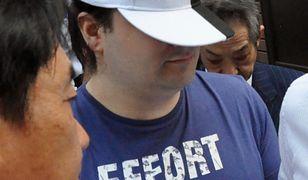 Aresztowanie Marka Karpelesa w związku z utratą bitcoinów przez klientów giełdy Mt. Gox.