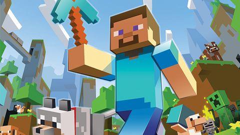 Minecraft na Xboksie 360 z płatnym DLC podmieniającym tekstury