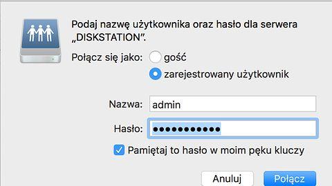 Apple najwyraźniej nie pozwoli zapisywać haseł do udziałów sieciowych