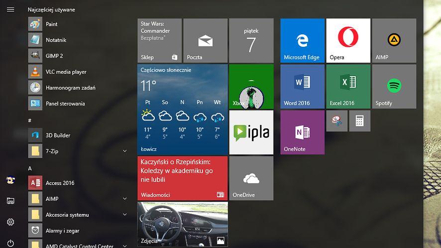Windows 10 Redstone 2 niczym iOS 10 pozwoli usunąć aplikacje systemowe