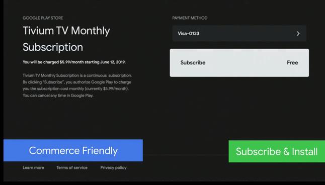 Odświeżony etap płatności za subskrypcję, źródło: Google, Android Police.